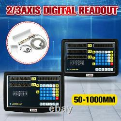 3 Axis Digital Readout DRO Display with 3PCS 5um Precision Linear Scale Encoder