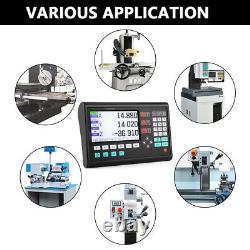 3 Axis LCD Digital Readout DRO Display Linear Scale Encoder for Milling Lathe