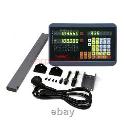 400&500MM DRO Display 2Axis Digital Readout Linear Glass Scale TTL Kit Milling