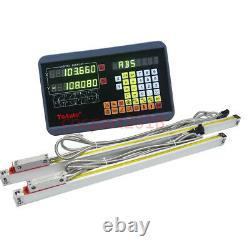 450&550mm TTL Linear Glass Scale 2 Axis Digital Readout DRO Display Milling Kit
