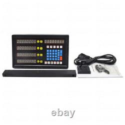 4Axis Digital Readout DRO Display+4pc Linear Glass Scale TTL Encoder 5µm Milling