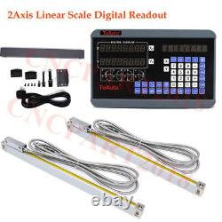5µm 2Axis Dro Linear Scale Encoder Digital Display Readout Lathe Mill Machine
