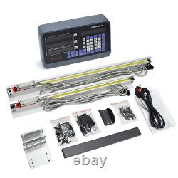 5µm Precision Linear Scale 2Axis Digital Readout DRO Display 450&900mm Milling