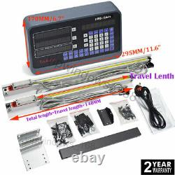 6 10 2Axis DRO Digital Readout TTL Linear Glass Scale Milling 5µm 150 & 250mm