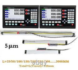 7 LCD Display Screen Readout Linear Scale 25mm-3000mm For Milling Lathe Machine