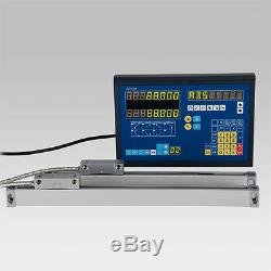 BiGa 2 AXIS DRO DIGITAL READOUT WITH 2 LINEAR SCALE FOR MILL LATHE MACHINE NEW