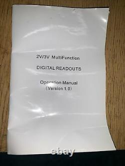 DRO 2-Axis Digital Readout ToAuto For Mill Or Lathe Machine Open Box