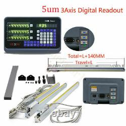 DRO 3 Axis Digital Readout 3pcs 50-1000mm Linear Scale Encoder for Drill Milling