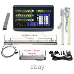 DRO 3 Axis Digital Readout TTL Linear Scale 150&300&600mm Encoder Drill Milling