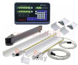 Digital Readout 2Axis DRO Display 600&700MM Linear Scale Encoder CNC Milling 5m