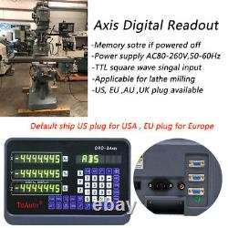Digital Readout DRO Display Linear Scale Encoder for Mill Lathe CNC 2Axis/3Axis