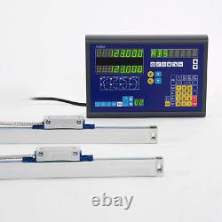 Dro 2 Axis MILL Bridgeport Package Linear Glass Scales New Free Shipping New