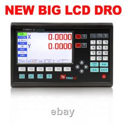 LCD 2 Axis Digital Readout for Lathe Mill CNC Machines and Linear Scale 100 200