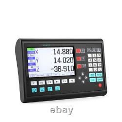 LCD 3 Axis Digital Readout DRO Display Linear Scale Encoder for Milling Lathe UK