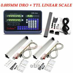 Linear Scale 2Axis DRO 5µm Digital Readout Display 500&650mm CNC Milling Machine