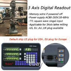 Linear Sensor Scale 2Axis/3Axis Digital Readout DRO Display for Mill Lathe EDM