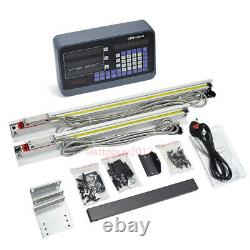 Milling Lathe Digital Readout Display 2 Axis Linear Scale 350&400mm DRO CNC Kit