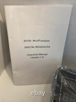 New DRO 2-Axis Digital Readout ToAuto For Mill Or Lathe Machine -Open Box