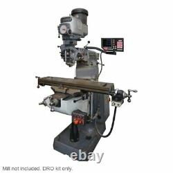 Newall 3 axis DRO kit for Bridgeport Mill 42 BTC Knee IP67 (Mill not included)