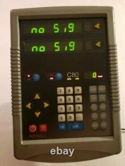 Newall C80 DRO Digital Readout Unit Mill Lathe 2 axis C8020002 with power cord
