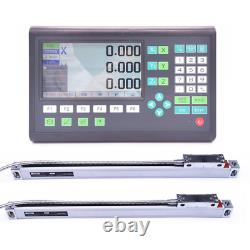 Newest Machifit Lathe Milling DRO Kit LCD 2/3 Axis AC 220V Grating CNC Milling