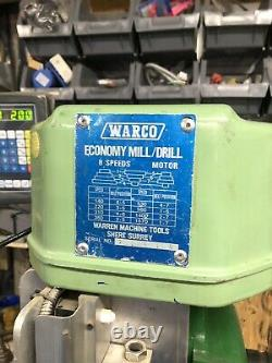 Warco Milling Machine With 3 Axis DRO
