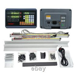 XY 2Axis Digital Readout DRO Display TTL Linear Scale 350&400mm CNC Mill Kit